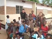 Gwilym with the children at Nakutepa Village Resource Centre