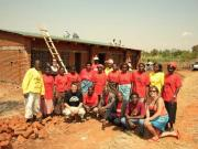 Matande committee infront of their building in progress